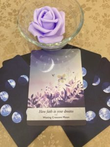 angel card purple rose
